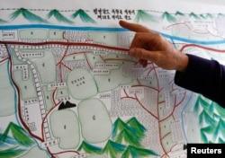 یکی از بازرسان ملل متحد نقشهای از یکی از اردوگاههای کار اجباری در کره شمالی را که به دست یکی از نجاتیافتگان منتشر شده، نشان میدهد