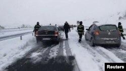Zaglavljeni vozači kod Segovije u Španiji.
