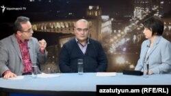 Արթուր Սաքունցը և Արթուր Եղիազարյանը «Ազատության» տաղավարում, 25-ը հունվարի, 2018 թ․