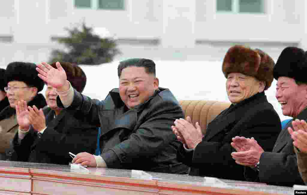 "Kim Jong Un at the opening of Samjiyon. On December 2, North Korea's government announced a ""year-end limit"" for the United States to decide ""what Christmas gift"" it would receive. In April 2019, North Korea's state media reported that Kim would wait until the end of 2019 for Washington to change its approach to nuclear negotiations with Pyongyang."