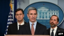 Ken Cuccinelli, acting director of US Citizenship and Immigration Services, speaks during a briefing with members of the president's Coronavirus Task Force in Washington, DC, on January 31, 2020.