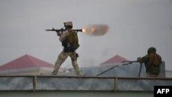 Бійці афганських Сил швидкого реагування під час операції, Мазар-і-Шаріф, 4 січня 2016 року