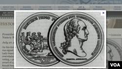 USA Congress gold medal for general Goerge Washington