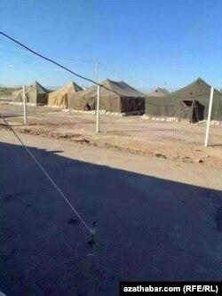 Карантинный лагерь для пациентов с подозрением на COVID-19, Туркменабад, сентябрь, 2020.