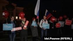 Казанда Навальныйга теләктәшлек чарасы