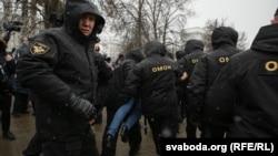 Затримання активістів у Мінську, 25 березня 2017 року