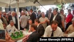 Članovi Predsedništva Bosne i Hercegovine u poseti Beogradu i premijeru Aleksandru Vučiću, 22. jul 2015.
