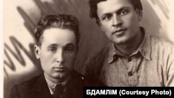 Кузьма Чорны і Адам Бабарэка. Ліпень 1925 г.