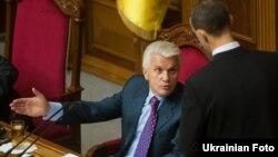 Председатель Верховной Рады Украины Владимир Литвин в зале заседаний парламента.