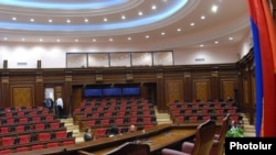 Armenia -- The newly renovated parliament auditorium.