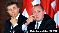 Гуьржийчоь -- керла гуьржийн президент Маргвелашвили Гиорги (Аьт), гуьржийн премьер-министр Иванишвили Бидзина (Аьр), Тбилиси, 28ГIа2013