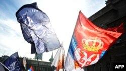 Протест против сербско-косовских переговоров в Белграде 5 февраля 2013 г.