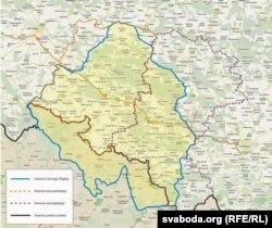 Мапа Шлёнскай аўтаноміі