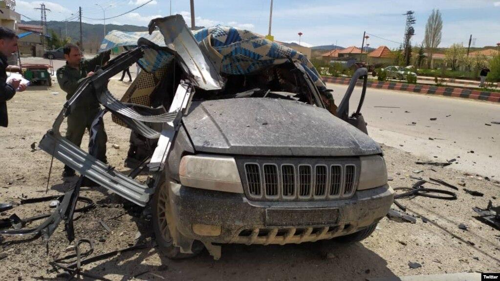 خودرویی که گفته میشود روز چهارشنبه هدف حمله پهپادهای اسرائیلی قرار گرفت.