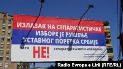 Mbishkrime me thirrje për bojkotim të zgjedhjeve në veri të Mitrovicës