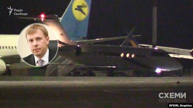 Увечері 9 червня до аеропорту «Бориспіль» прибув із Франкфурта (Німеччина) літак, що належить колишньому народному депутатові Віталієві Хомутинніку