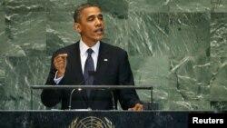 АҚШ Президенти Барак Обама 25 сентябр куни БМТ Бош Ассамблеяси минбарида.