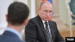 Bashar al-Assad və Vladimir Putin Kremldə - 2015