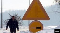 Sneg u okolini Užica - ilustracija