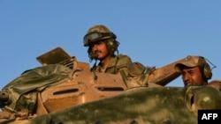 نیروهای ارتش ترکیه در تانکی در نزدیکی جرابلس