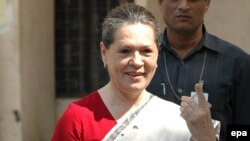 India's Congress party leader Sonia Gandhi