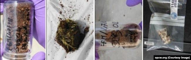Образцы почвы, взятые экспертами ОЗХО на месте химической атаки в сирийском городе Саракеб