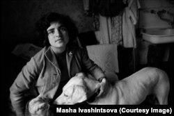 Asya Ivashintsova-Melkumyan in Leningrad in 1978
