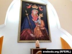 Копія абраза Маці Божай Бялыніцкай у капліцы бялыніцкіх каталікоў