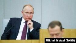Владмир Путин һәм Дмитрий Медведев