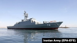 Iranian authorities say the newly-built Sahand destroyer would be one of the warships deployed. (file photo)