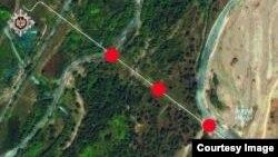 На снимке — участок российско-армянского газопровода.