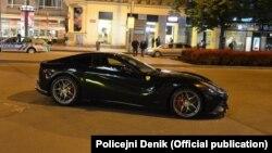 22 летний азербайджанец на «Ferrari» в центре Праги (Policejni Denik)