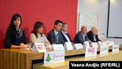 Konferencija za novinare na kojoj je učestvovao Mladen Obradović