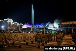Репетиция военного парада в Минске накануне 9 мая.