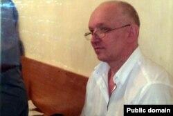 Лидер оппозиционной партии «Алга» Владимир Козлов на скамье подсудимых. Актау, 13 сентября 2012 года.