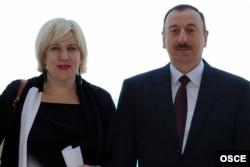 Dunya Miyatoviç və İlham Əliyev