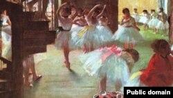 На снимке: одна из картин Дега, посвященная балету