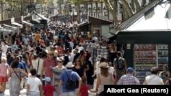 Барселона. Бульвар Рамбла за день до теракта