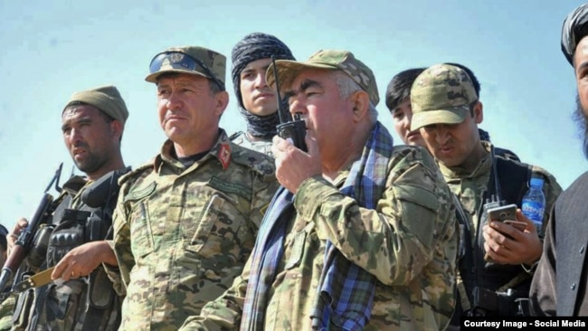 Afghan First Vice President Abdual Rashid Dostum leads troops against insurgents in northern Afghanistan in October 2015.