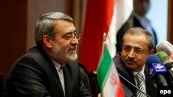 کنفرانس خبری وزیران کشور ایران و سوریه در دمشق در روز دوشنبه