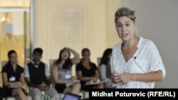 """Međunarodna konferencija """"Humanost u akciji"""", Sabina Čehajić Clansy, Sarajevo, juli 2012."""