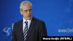 Serbia - Boris Tadic, Serbian President at the Belgrade's first security forum;