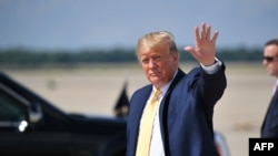 US President Donald Trump arrives at Joint Base Andrews in Maryland on June 19, 2019. - Trump is returning to Washington, DC after officially launching his 2020 campaign in Florida.