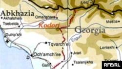 Кодорское ущелье, район конфликта