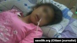 Эзозахон Сиддикова пролежала в больнице неделю. Фото публикуется с разрешения ее матери.
