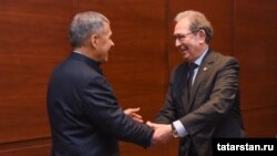 Рөстәм Миңнеханов һәм Илдар Агиш, Нью-Йорк