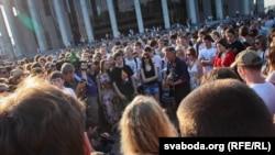 Акцыя ў цэнтры Менску «Рэвалюцыя праз сацыяльную сетку»