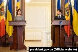 Президент України Володимир Зеленський і прем'єр-міністр Молдови Майя Санду. Київ, 11 липня 2019 року