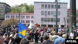 Jedan od mnogobrojnih protesta ratnih veterana u Sarajevu