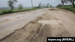 Дорога от села Войково до села Курортное в Ленинском района после ремонта, 22 мая 2019 года
